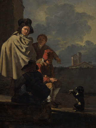 Italians with a dog, by Karel Dujardin
