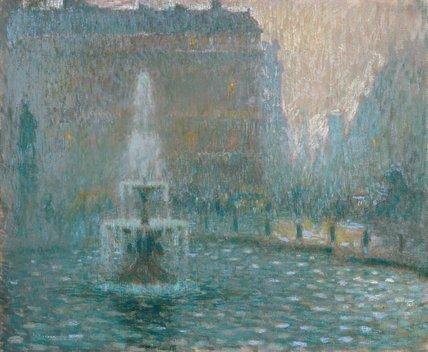 Trafalgar Square, by Le Sidaner
