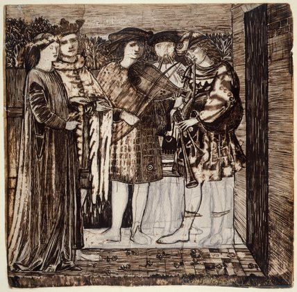 The Wedding Procession of Sir Degrevaunt, by Burne-Jones
