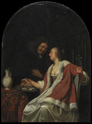 Dutch courtship, by Frans van Mieris