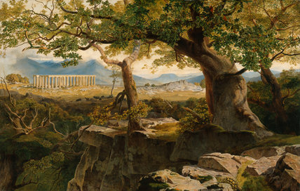 The Temple of Apollo at Bassae, by Edward Lear