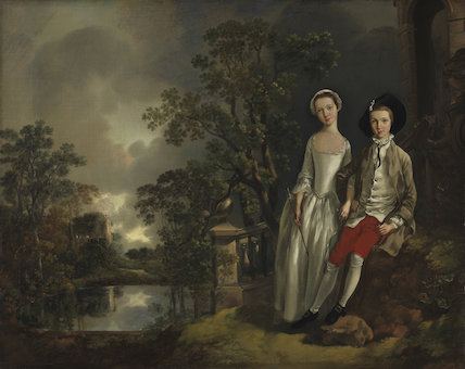 Heneage Lloyd and his sister, Lucy, by Gainsborough