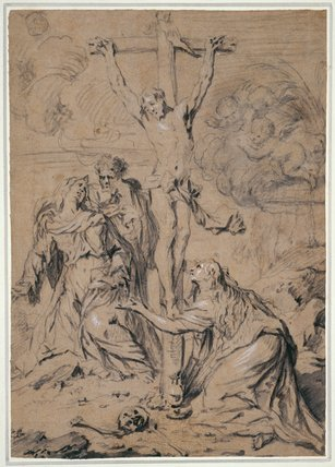 Magdalen, Mary & St John at the Cross, by Gaspar de Crayer