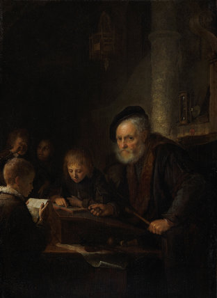 The Schoolmaster, by Gerrit Dou