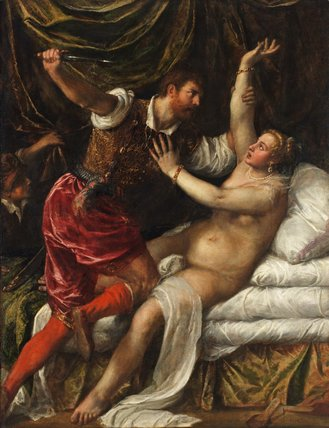 Tarquin and Lucretia, by Titian