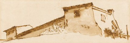 Study of a Farmhouse, by Giovanni Battista Tiepolo