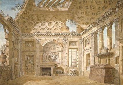 The Ruin Room in S. Trinita dei Monti, by Clerisseau