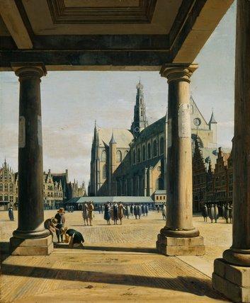 The Groote Kerk at Haarlem, by Gerrit Adriaensz Berckheyde