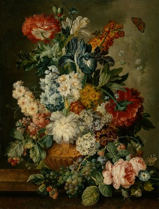 Vase of flowers, by Jacobus Linthorst