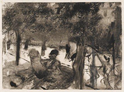 L'Avenue du Bois, by Degas
