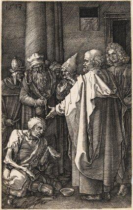 Peter and John healing the cripple, by Durer
