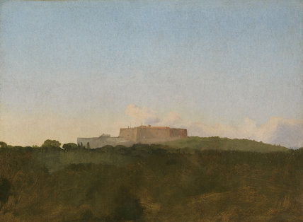 Castel Sant' Elmo, from Capodimonte, by Degas