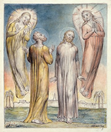 Andrew and Simon Peter searching for Christ, by William Blake