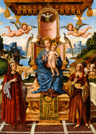Virgin & Child Enthroned with Saints, by Gian Francesco Maineri