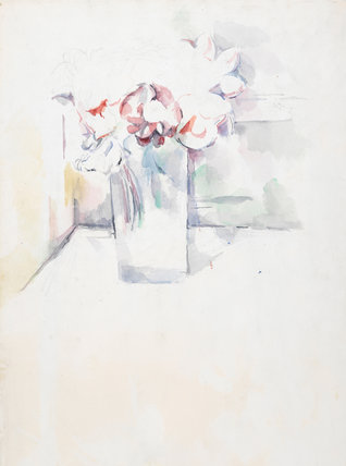 Still-life, flowers in a jar, by Cezanne