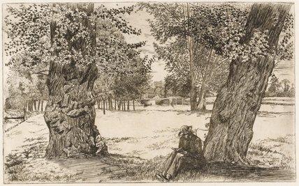 Between the Poplars, Sunbury, by Edwin Edwards