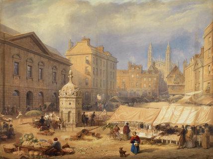 Cambridge Market Place, by Frederick MacKenzie