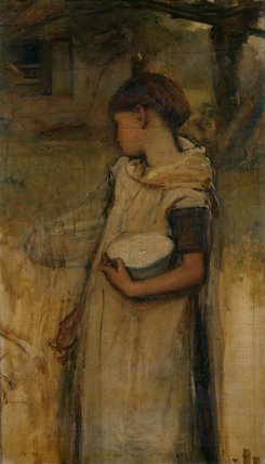 Painting of a Girl, by Frank Holl