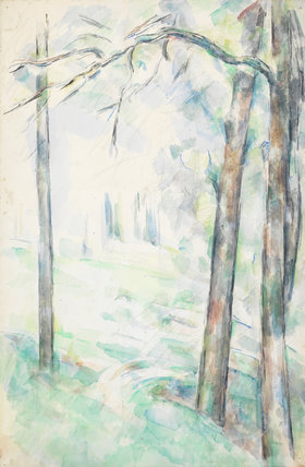 Les Bois, Aix-en-Provence, by Cezanne
