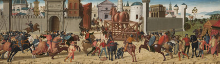The Siege of Troy: The Wooden Horse, by Biagio d'Antonio