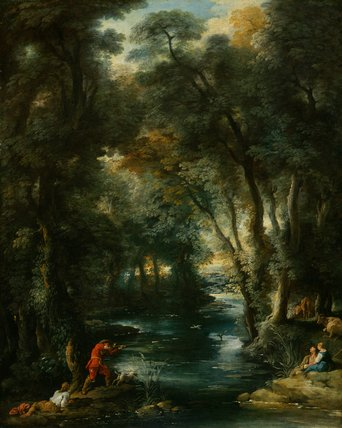 Duck-shooting in a wood, by Jean Francois de Troy