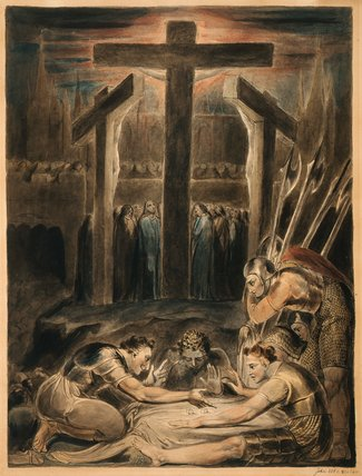 The Soldiers casting lots for Christ's Garments, by William Blake