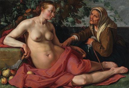 Vertumnus and Pomona, by Hendrik Goltzius