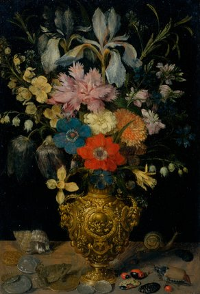 Still-life with flowers, by Georg Flegel