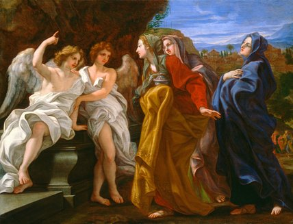 The Three Maries at the Empty Sepulchre, by Il Baciccio