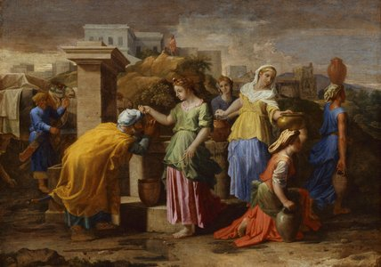 Eliezer and Rebecca, by Poussin