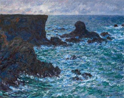 Rocks at Port-Coton, the Lion Rock, Belle-Ile, by Monet