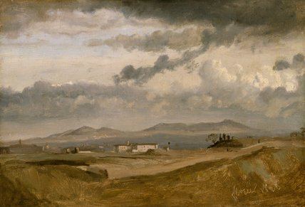 View of the Convent of S. Onofrio, by Corot