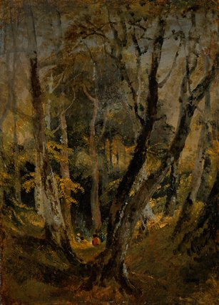 A Beech Wood with Gypsies seated in the Distance, by Turner