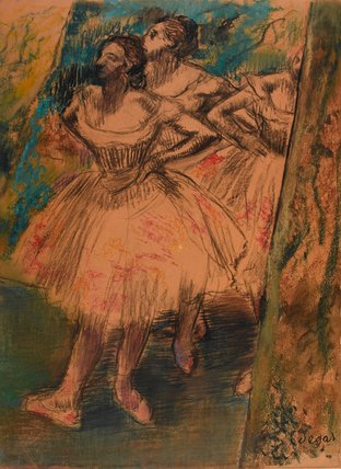 Dancers in the Wing, by Degas