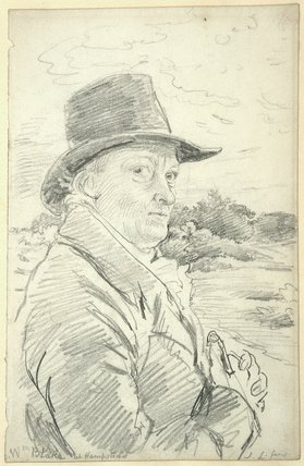 William Blake Wearing a Hat, by John Linnell