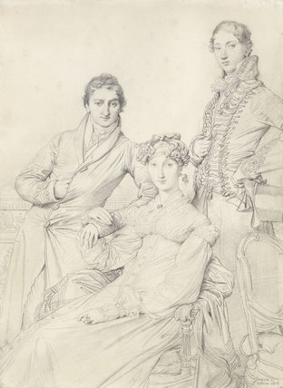 Mr & Mrs Joseph Woodhead and Henry Comber, by Ingres