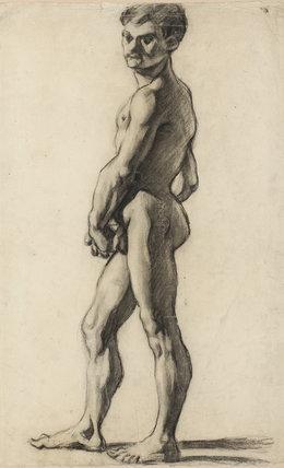 A male nude, by Cezanne