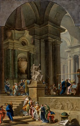 Allegorical Monument to Sir Isaac Newton, by Pittoni & Valeriani
