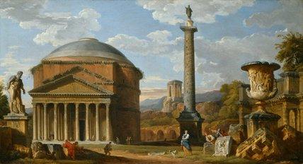 Capriccio of Roman Ruins, by Giovanni Paolo Pannini