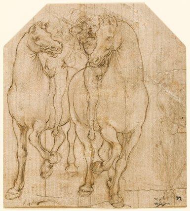 Two horsemen, by Leonardo da Vinci