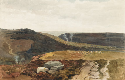 Yorkshire Fells, by Peter De Wint