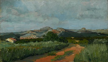 Provencal Landscape, by Paul Camille Guigou (attributed)