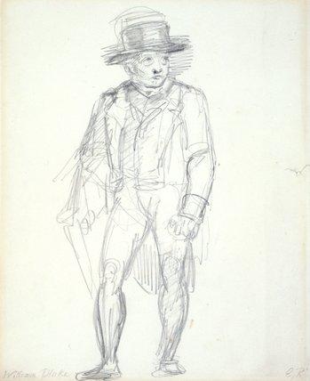 William Blake walking, by George Richmond