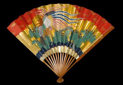 Japanese wide-ended folding fan (suehiro ogi)