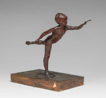 Arabesque over the Right Leg, Left Arm in Front, by Degas