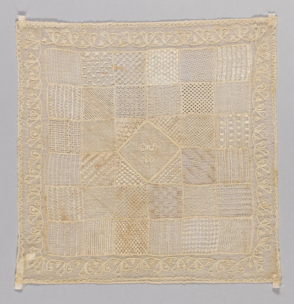 Danish whitework embroidery sampler