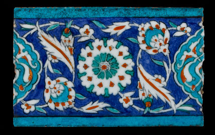 Iznik border tile, Ottoman