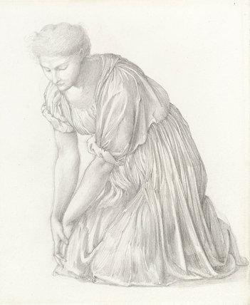 Study for the 'Mirror of Venus', by Burne-Jones