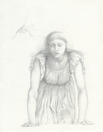 Studies for the 'Mirror of Venus', by Burne-Jones