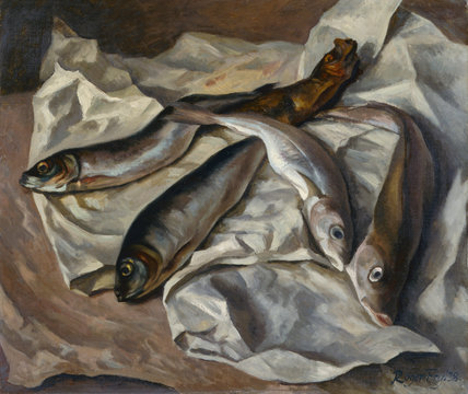 Still Life Of Fish By Roger Fry By Roger Eliot Fry At